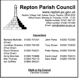 Repton Parish Council Advert