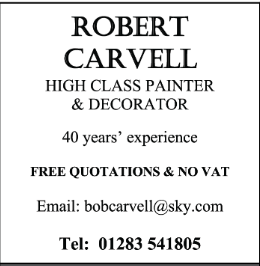 Robert Carvell advert