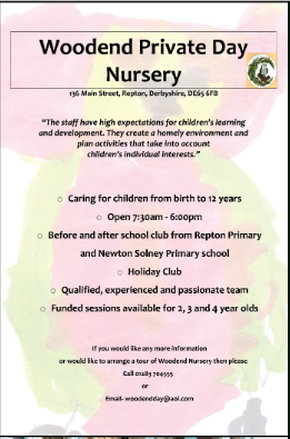 Woodend Nursery Advert